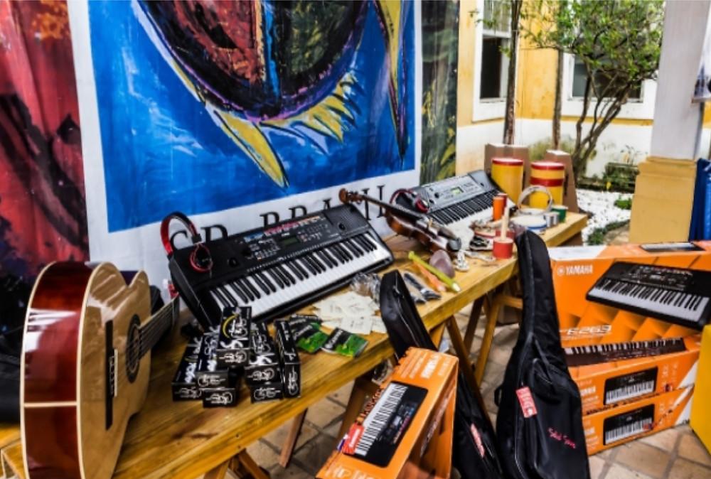 Instrumentos musicais - Foto: Divulgação/PMSS
