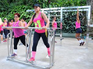 Camorim recebe primeira academia ao ar livre em aço inox em Angra