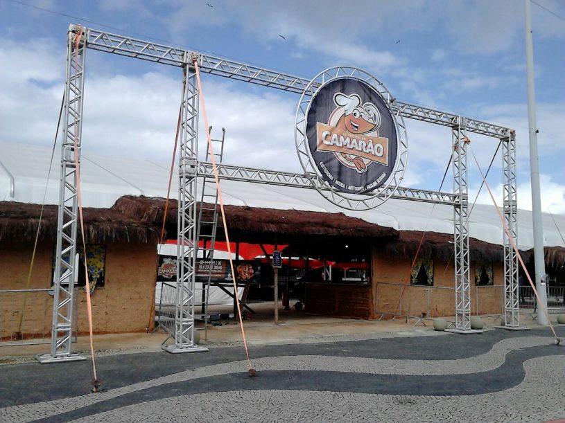 Fachada da entrada do Festival do Camarão - Foto: JC Curist/Fundacc