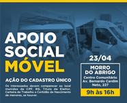 São Sebastião realiza Apoio Social Móvel nesta sexta-feira (23) no bairro Morro do Abrigo