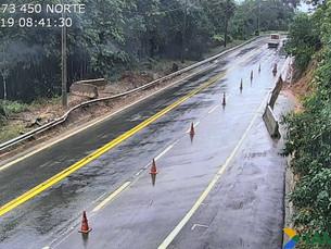 Serra da Tamoios é liberada para tráfego após quase 40 horas fechada por risco de deslizamento