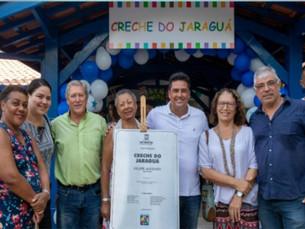 Comunidade do Jaraguá aprova creche inaugurada nesta segunda-feira