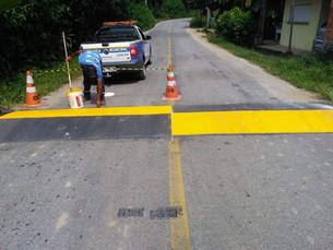 Estrada de Paraty-Mirim recebe nova lombada e repintura nas já existentes