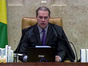 'Não há solução para as crises fora da legalidade constitucional', diz Toffoli ao abrir sess
