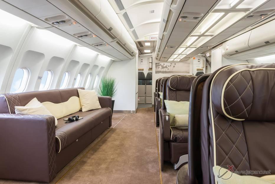 Interior do avião que levou a seleção brasileira para a Copa da Rússia - Divulgação
