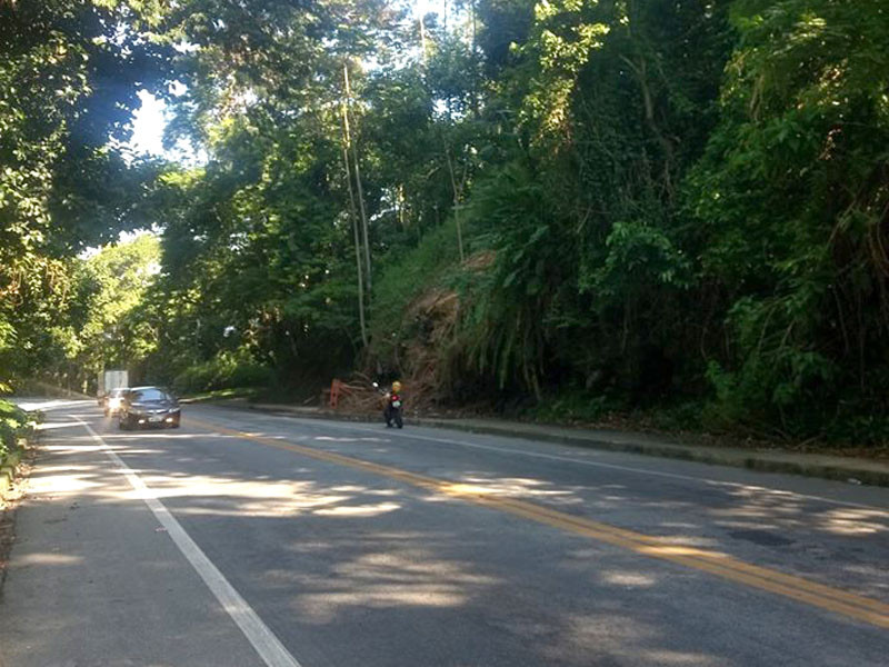 A rodovia Rio-Santos vai ser interditada nos dois sentidos amanhã, entre 10h e 11h, na altura do bairro Mombaça. - Foto: Divulgação/PMAngra
