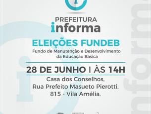 Eleição para o Conselho Municipal do FUNDEB acontece nesta sexta-feira em São Sebastião