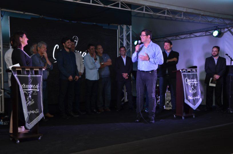 Aguilar Junior durante a cerimônia de abertura do festival - Foto: Claudio Gomes/PMC
