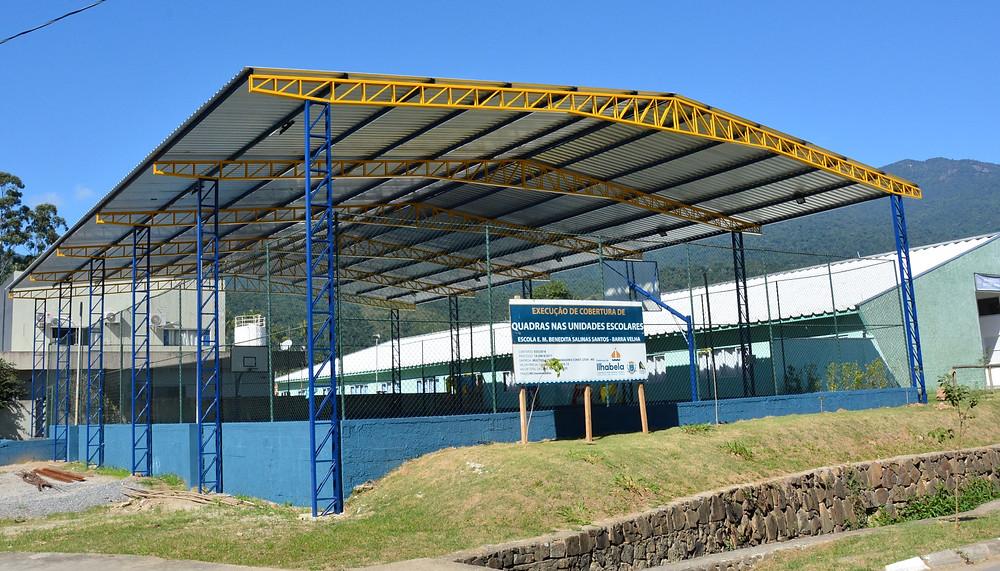 """E.M. """"Benedita Salinas"""", na Barra Velha, conta com cobertura recém instalada - Foto: Divulgação/PMI"""