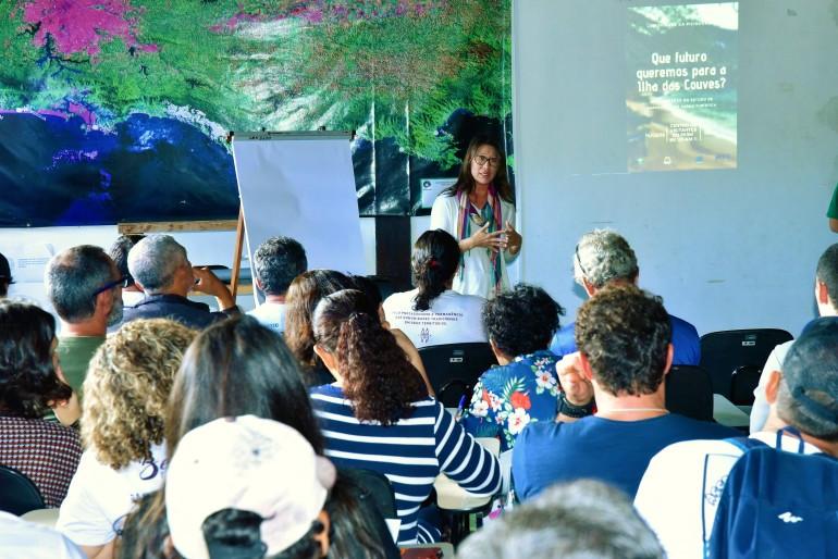 A procuradora federal, Walquiria Imamura Picoli fala aos presentes - Foto: Divulgação/PMU