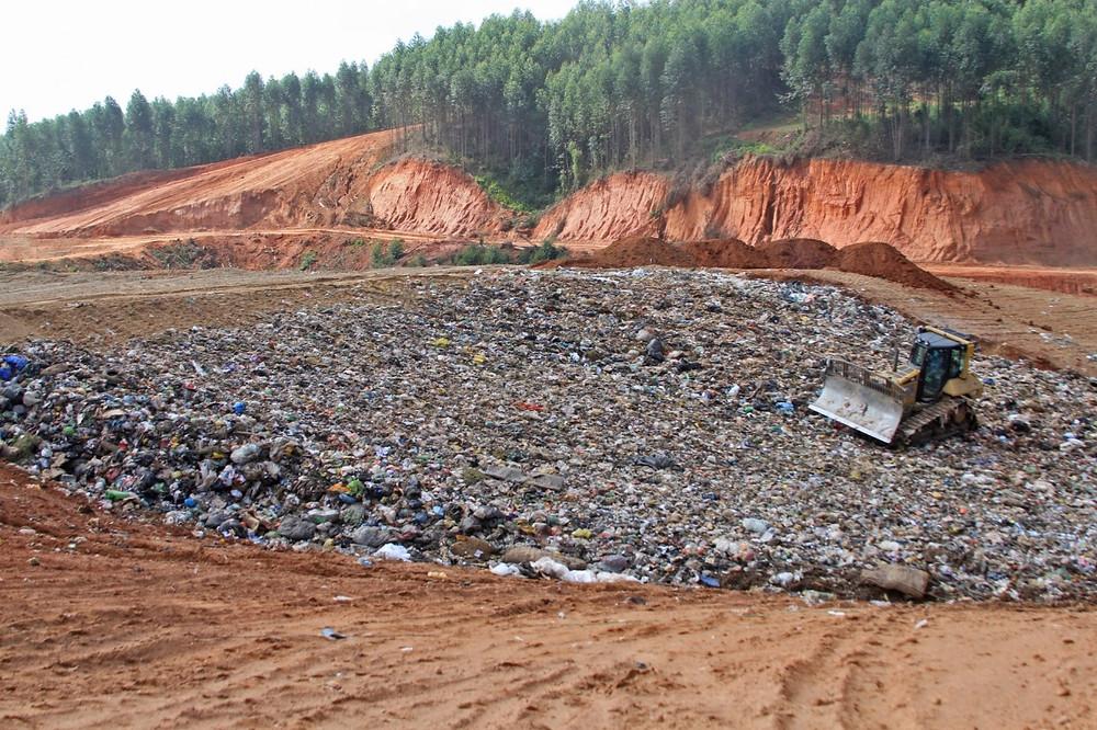 Aterro sanitário de Tremembé que recebe o lixo de Ubatuba