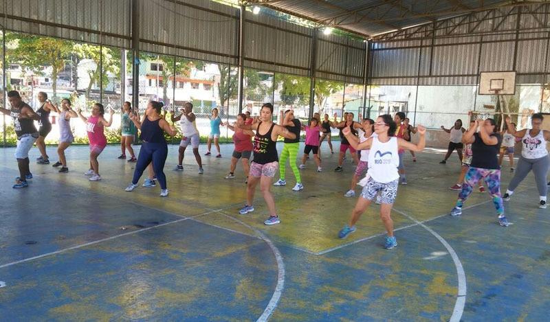 Aula de Aero Boxe na Monsuaba - Foto: Divulgação/PMAngra
