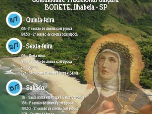 Festa de Santa Verônica começa nesta quinta-feira na comunidade do Bonete, em Ilhabela