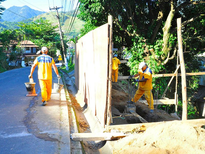 Construção da DPO - Foto: Divulgação/PMAngra