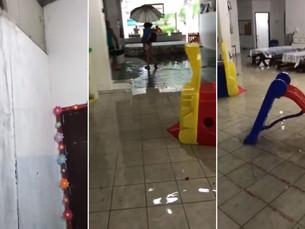Caos, abandono e inundação em creche de Ubatuba