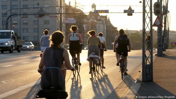 Copenhague, na Dinamarca, se destaca como cidade inteligente devido à ciclomobilidade