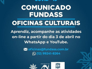 Prefeitura de São Sebastião dá continuidade às aulas das Oficinas Culturais com atividades online