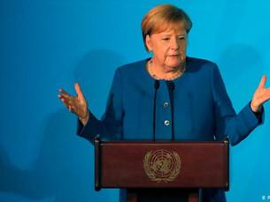 'Nós temos apenas uma Terra', diz Merkel na ONU
