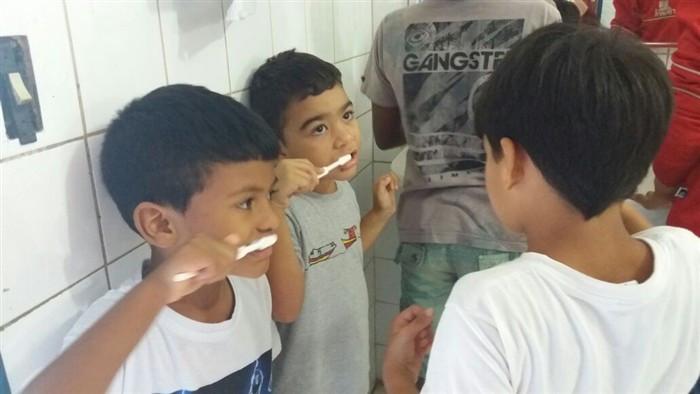 O objetivo é levar mais conhecimento às crianças com relação à importância da Saúde Bucal. - Foto: Divulgação/PMP