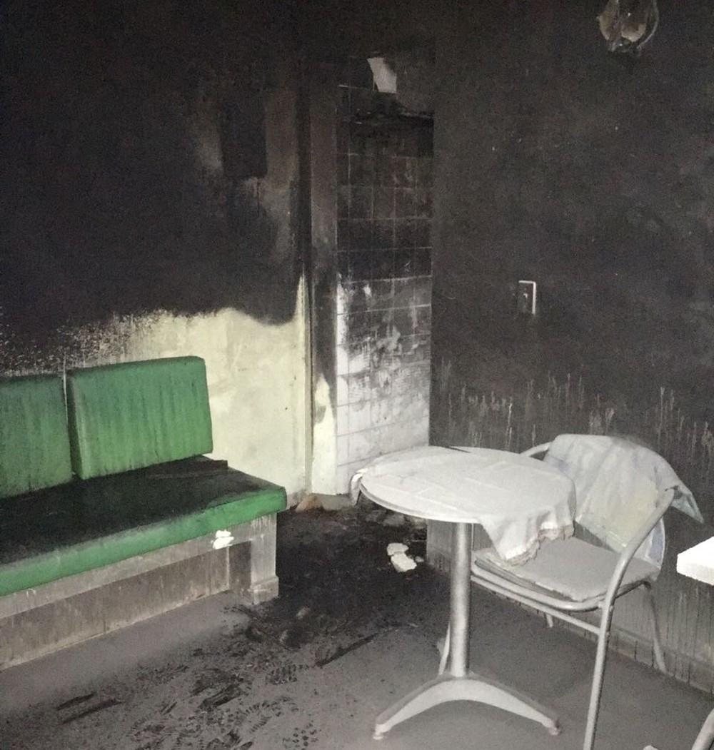 Fogo atingiu cozinha e sala de casa - Foto: Arquivo Pessoal/Fabrício Tcheller