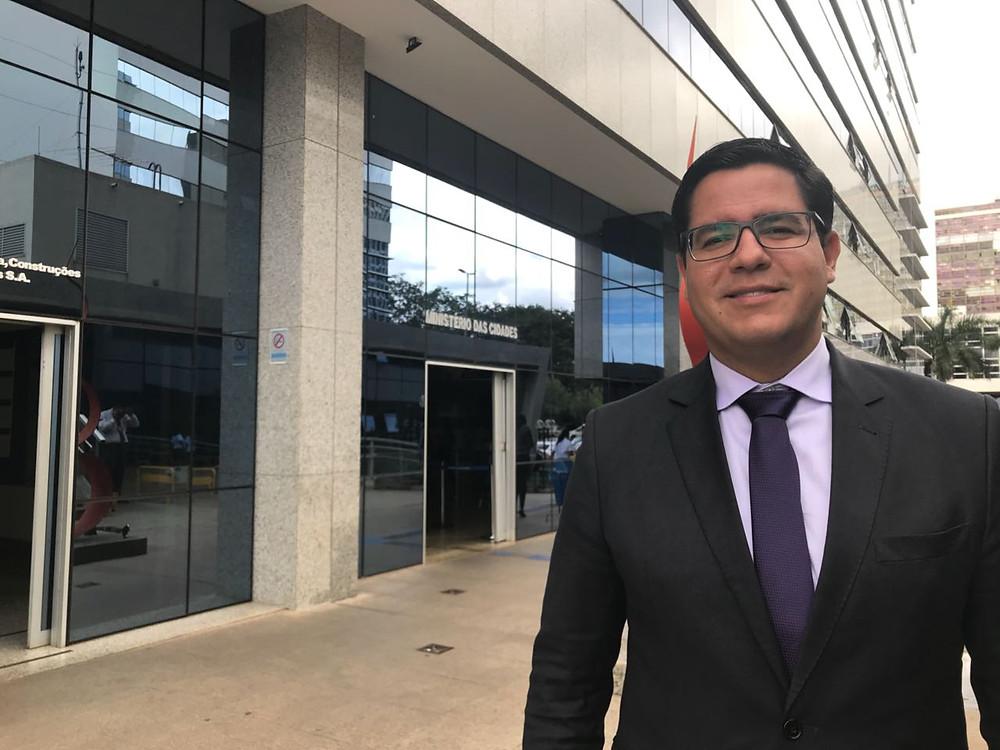 Aguilar Jr em Brasília - Foto: Divulgação/PMC