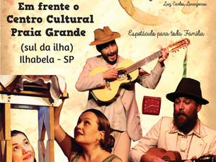 """Ilhabela recebe espetáculo """"Guaiá de todos nós"""" no Centro Cultural da Praia Grande"""