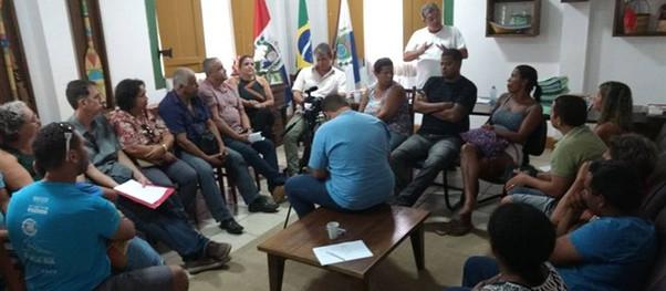 Prefeitura de Paraty realiza reunião com os ambulantes do Centro Histórico.