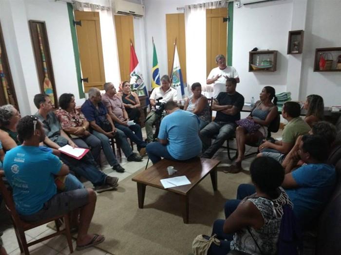 Reunião entre Prefeitura de Paraty e ambulantes do Centro Histórico