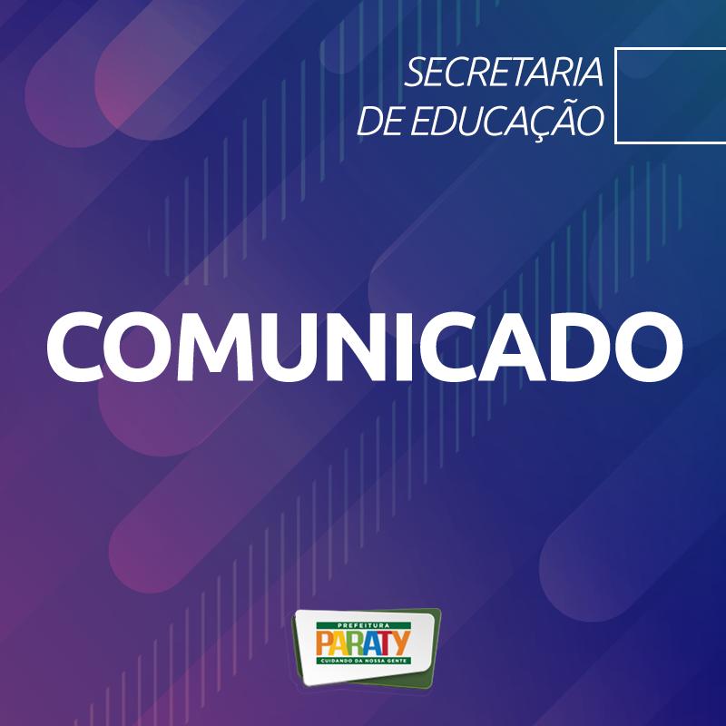 Paraty divulga calendário de matrículas da rede municipal de ensino para 2021 - Foto: Divulgação/PMP