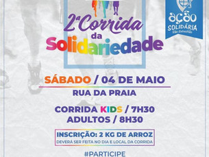 2° Corrida da Solidariedade promete agitar Rua da Praia, em São Sebastião, neste sábado