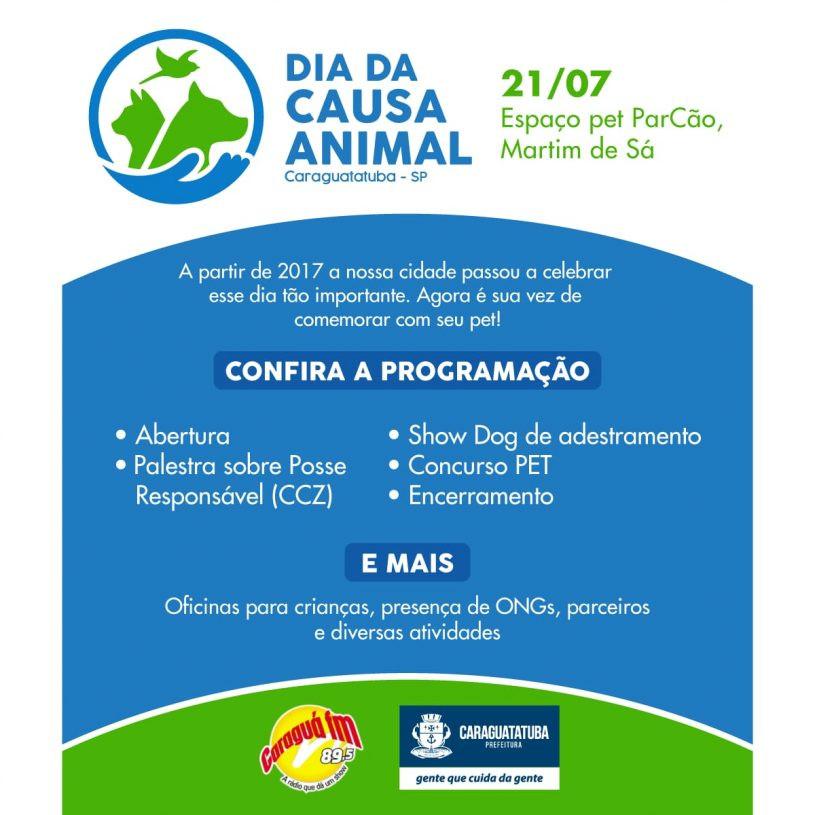 Entre as atrações estão previstas palestras sobre posse responsável, Concurso Pet com desfile de cães, Show Dog com adestramento e a presença de Ong's defensoras da causa animal.