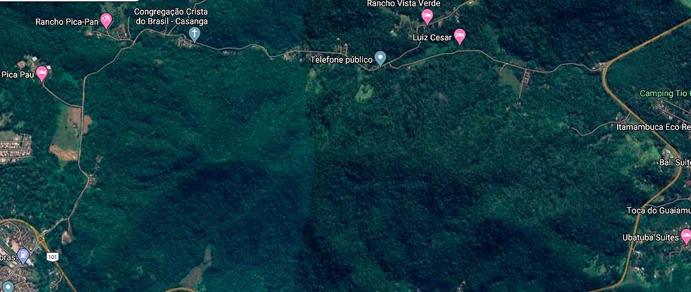 Ubatuba registrou um caso de raiva humana em 2018, no bairro da Casanga - Foto: Reprodução Google Maps
