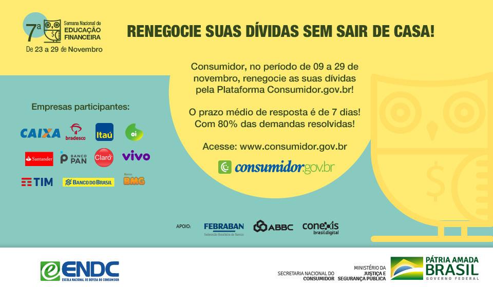 Consumidores podem renegociar dívidas na 7ª Semana Nacional de Educação Financeira digital - Foto: Divulgação