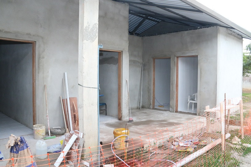 #PraCegoVer: Obras em andamento de prédio. (Foto: Luis Gava/PMC)
