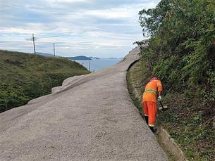 Rodovia Rio-Santos (BR-101) recebe melhorias no trecho de Ubatuba
