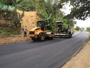 Obra do novo asfalto em trecho urbano da Paraty/Cunha é iniciada