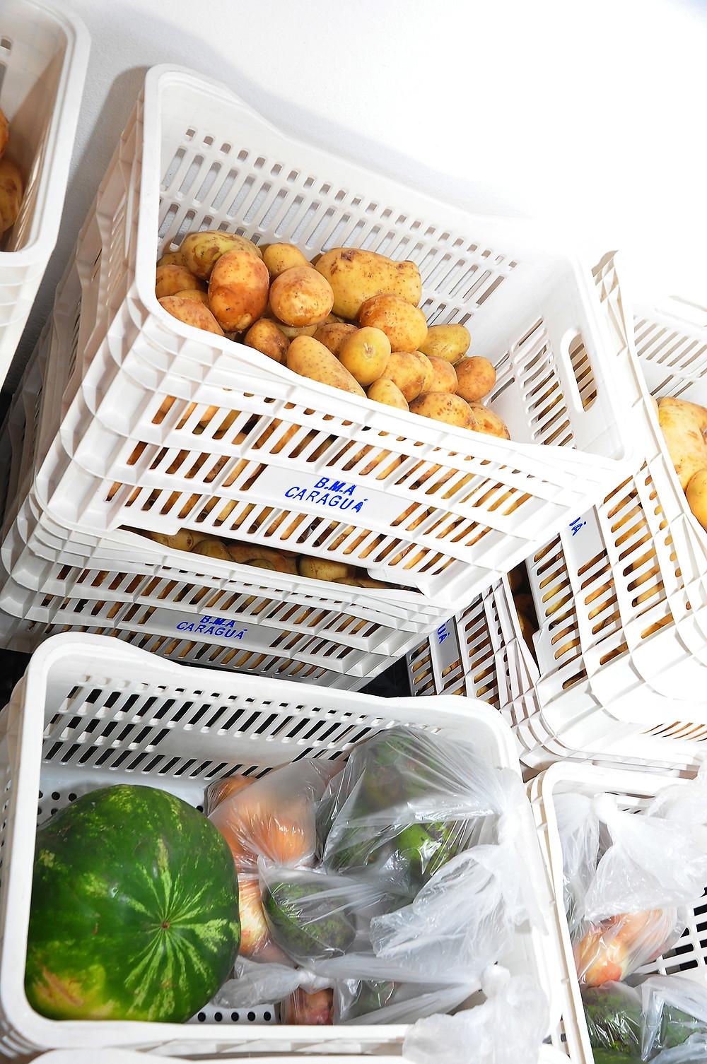 Alimentos doados - Foto: Luis Gava/PMC