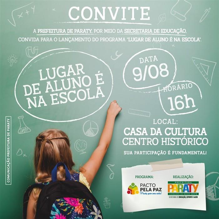 Convite para o lançamento do programa - Foto: Divulgação/PMP