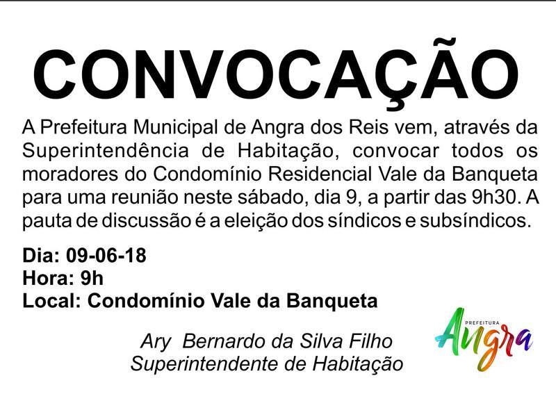 Convocação da Prefeitura de Angra - Foto: Divulgação/PMAngra