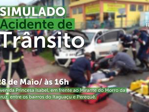 """Prefeitura de Ilhabela encerra """"Maio Amarelo"""" com simulado de trânsito"""