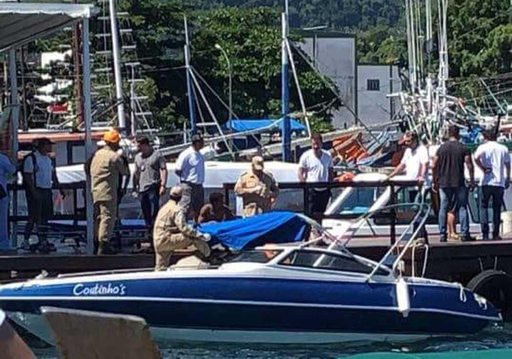 ombeiros socorreram as vítimas no Cais Santa Luzia, em Angra - Foto: Divulgação