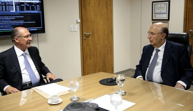 Governador de São Paulo, Geraldo Alckmin (PSDB) e ministro da Fazenda, Henrique Meirelles