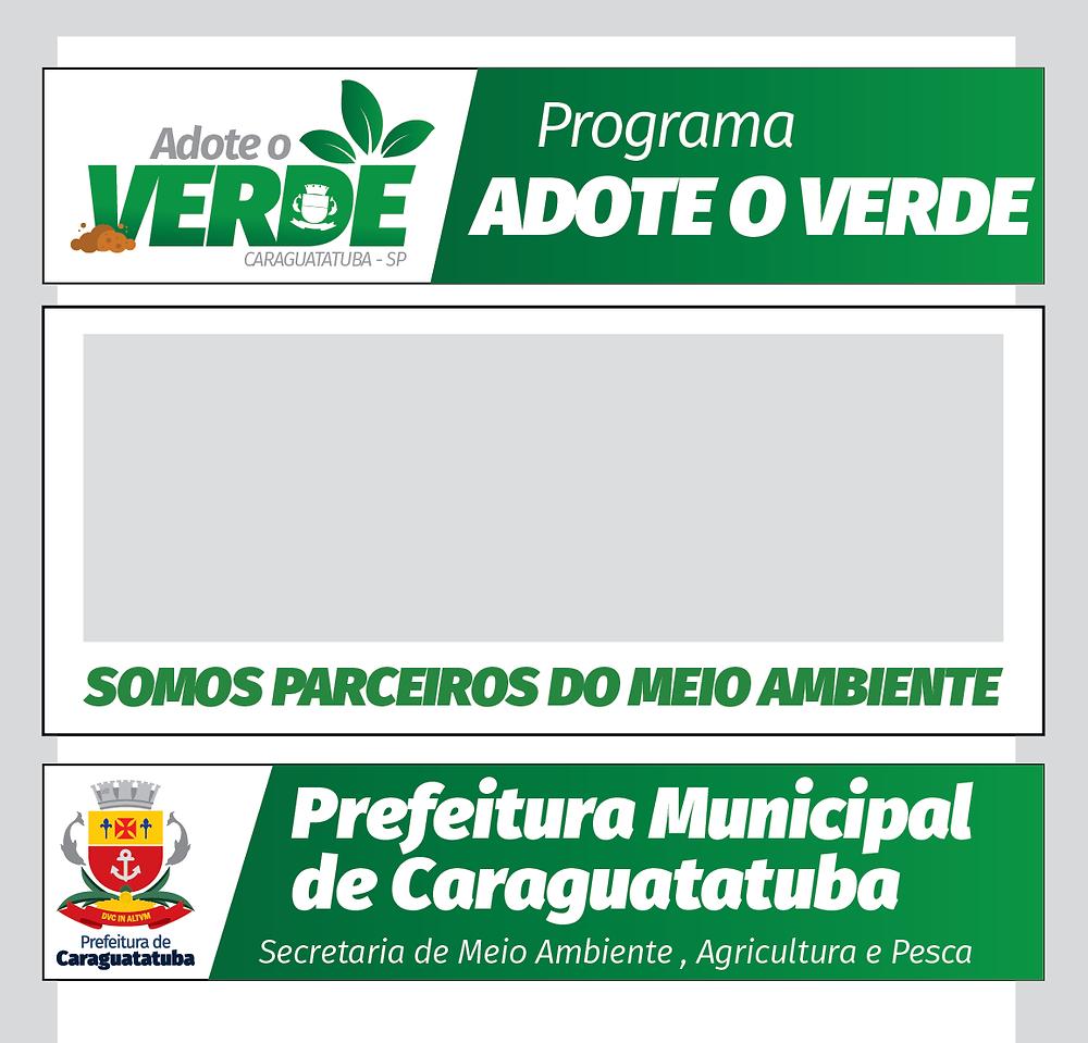 Modelo de placa que será instalada nos locais adotados - Foto: Divulgação/PMC