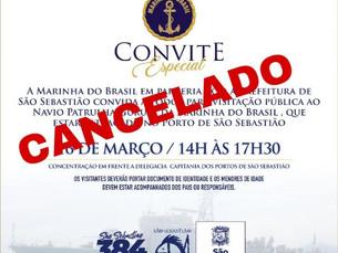 Marinha suspende visitação ao navio NaPa Guarupá no Porto de São Sebastião