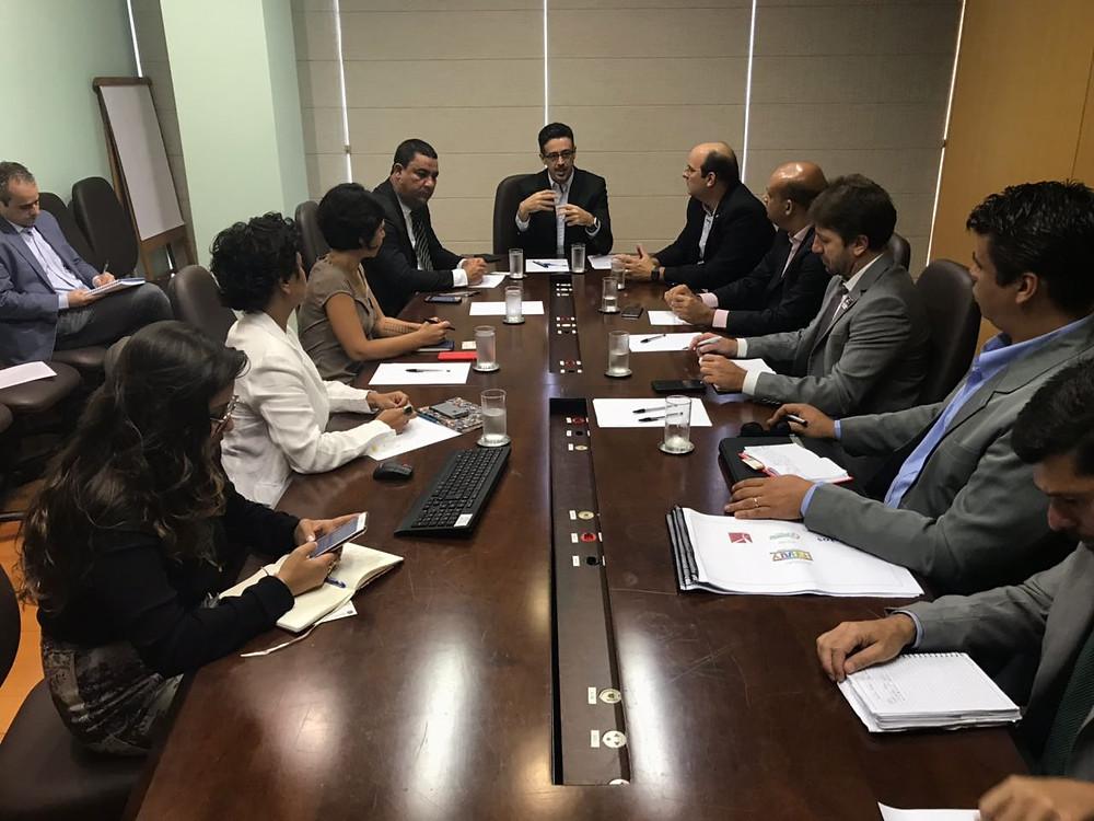 Reunião no gabinete do Ministro da Cultura, Sérgio Sá Leitão - Foto: Divulgação