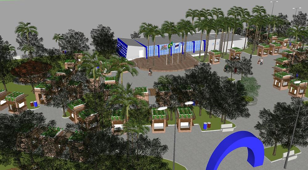 Perspectiva artística da nova praça - Foto: Divulgação/PMC