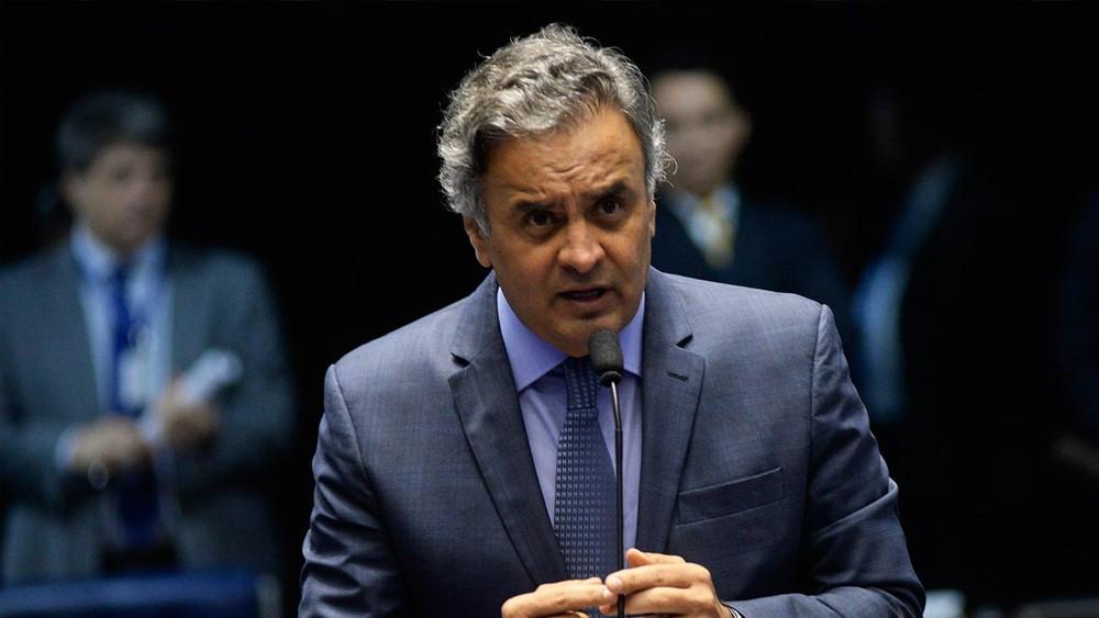 O senador Aécio Neves (PSDB-MG), no plenário do Senado, em imagem de novembro do ano passado (Foto: Jefferson Rudy/Agência Senado/Arquivo)