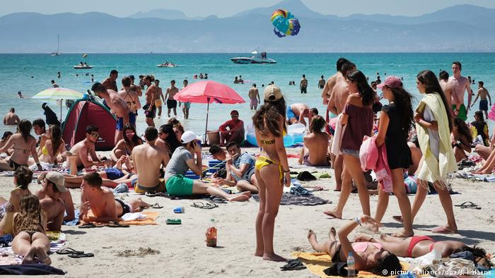 Turistas em Maiorca