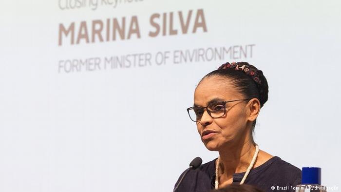 """Marina Silva durante fórum em Oxford: """"Político honesto no Brasil trabalha depois que acaba o mandato"""""""