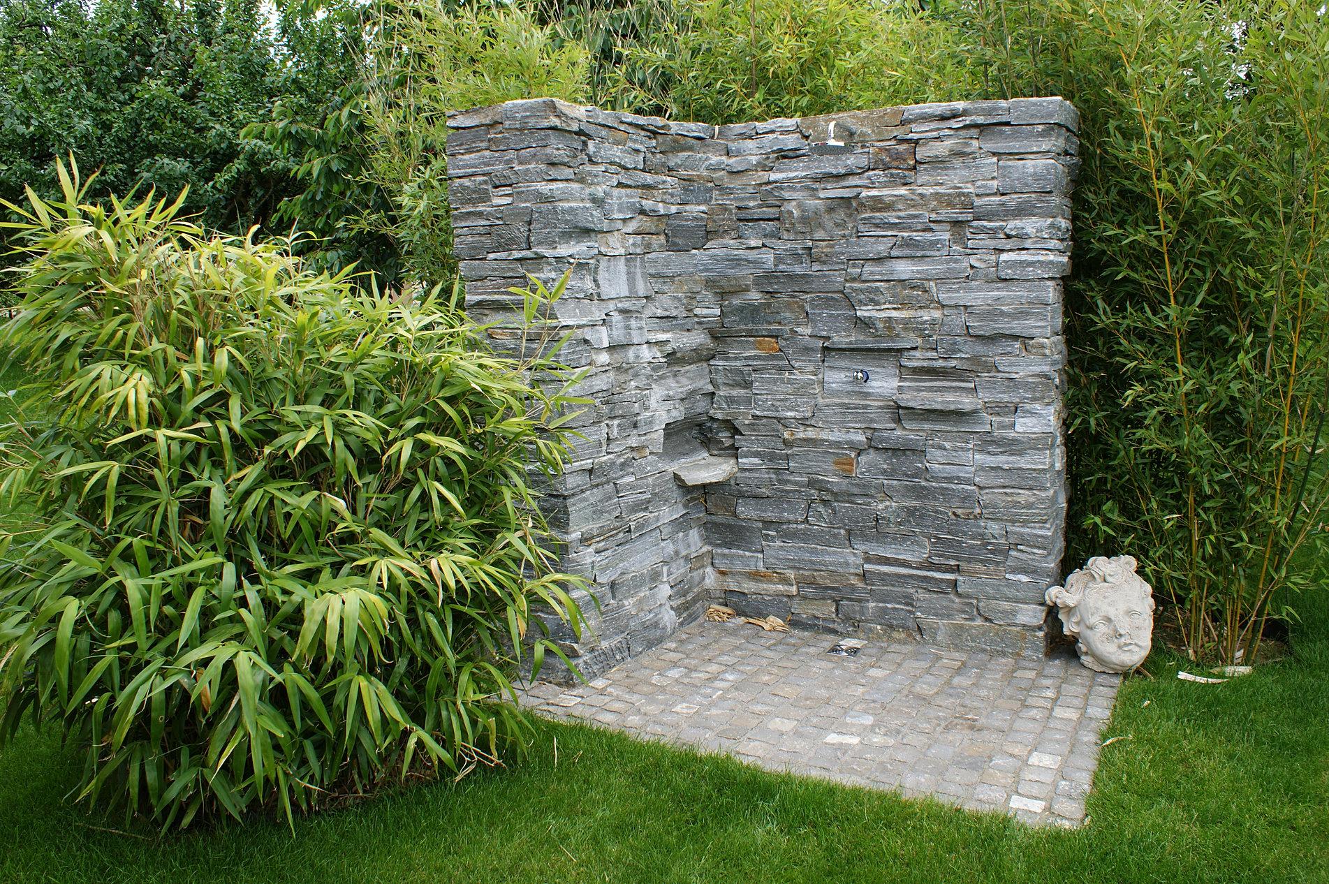 Steinmauern steinplatten steinwege im garten - Steinplatten garten ...